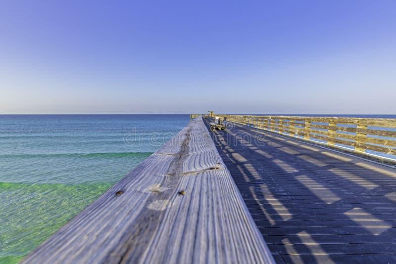 Wooden fishing pier stock photo