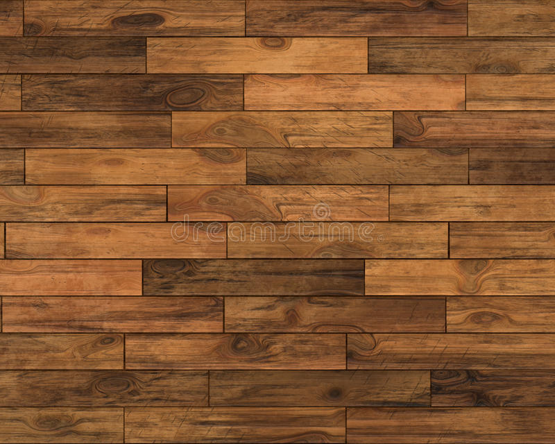 Wooden floor stock illustration