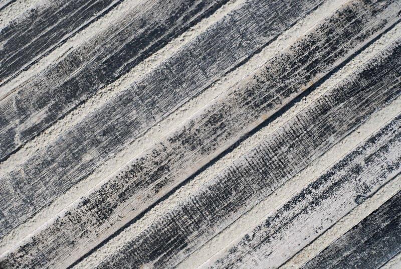 Wooden floor. Outdoor black painted wooden floor stock photos