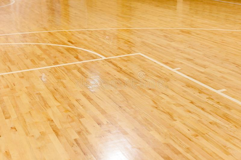 Wooden Floor Of Basketball Court Stock Photo Image Of Field