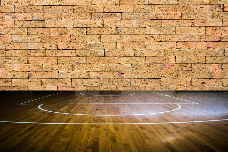 Wooden Floor Basketball Court Stock Photo Image 50422136