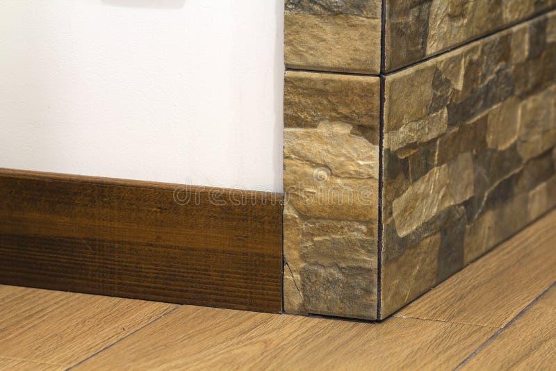 Wooden floor plinth. Interior details. Loft style. Wooden floor plinth. Interior details. Loft style royalty free stock photo
