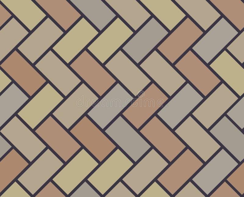 Wooden floor vector tile seamless pattern stock illustration