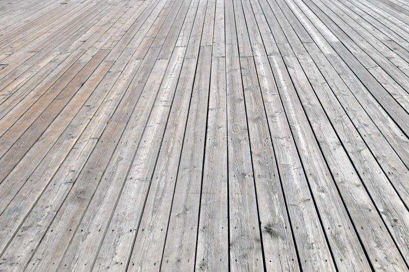 Wooden flooring, view in perspective. stock photos