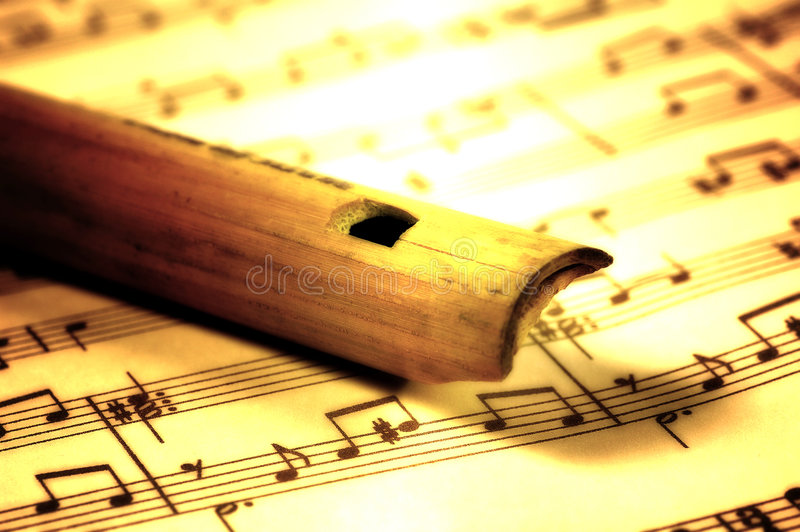 Download Wooden Flute stock photo. Image of song, flute, band, practice - 114404
