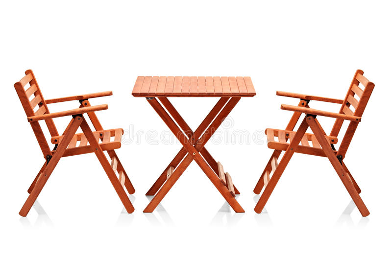 Download Wooden Folding Beach Furniture Stock Image - Image: 19035791