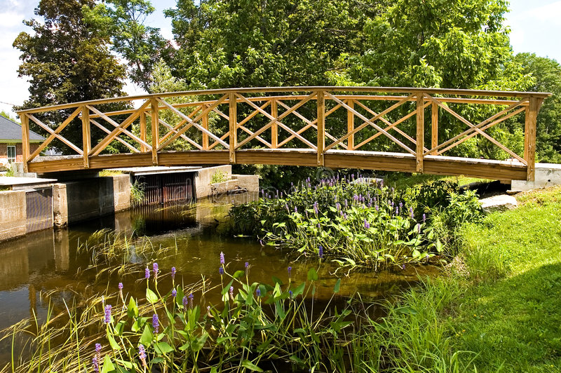 Wooden Foot Bridge Stock Photos