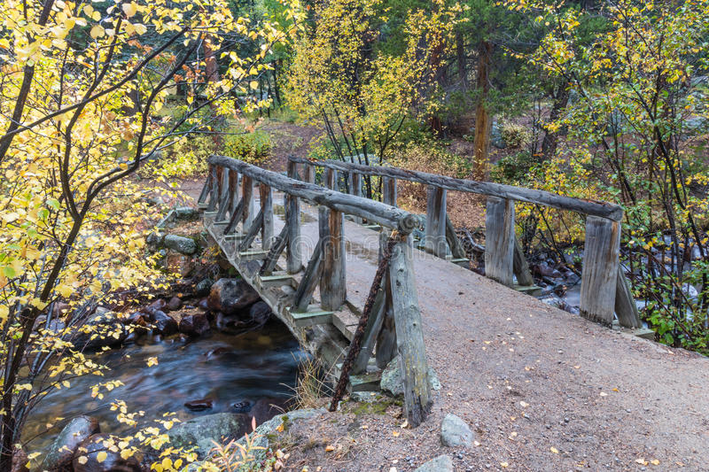 Download Wooden Foot Bridge Over The Stream Stock Photo - Image of national, rocky: 80453484
