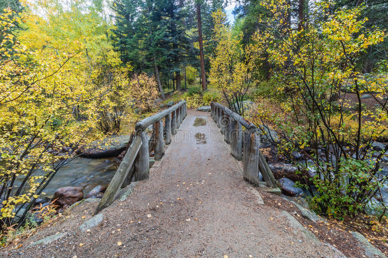 Download Wooden Foot Bridge Over The Stream Stock Image - Image: 80453541