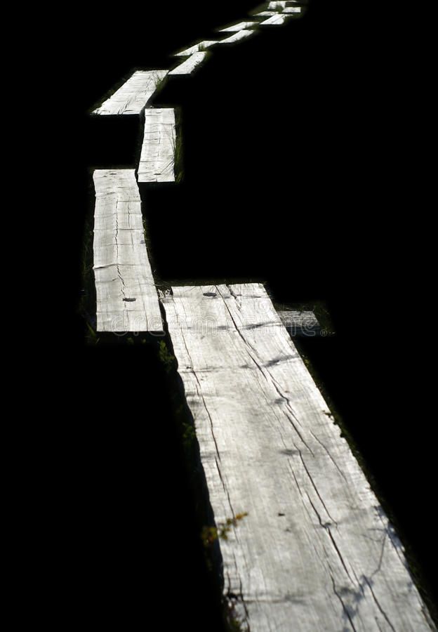 Wooden Foot Path Stock Photography