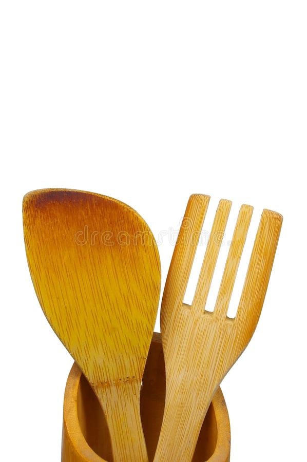 Free Wooden Fork And Spoon Stock Photos - 12990203
