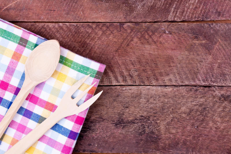 Wooden fork and spoon royalty free stock images