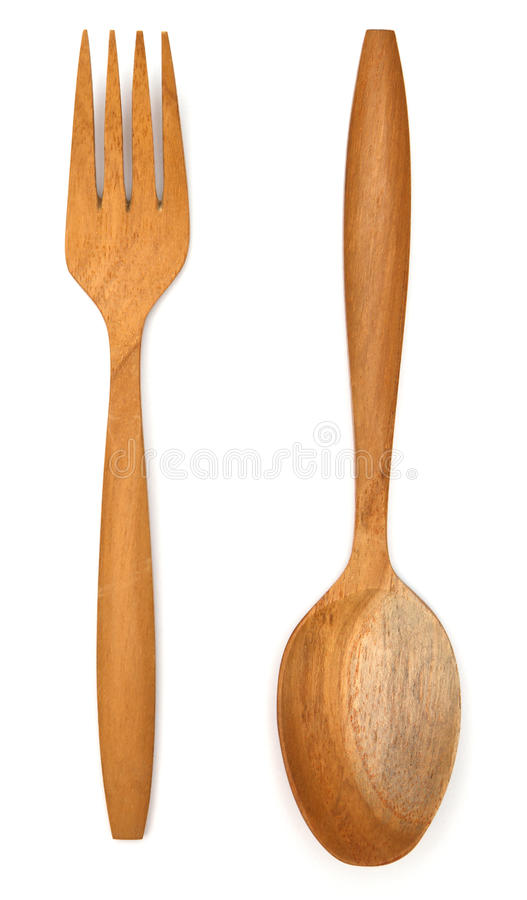 Download Wooden fork spoon stock image. Image of bakery, household - 39505789