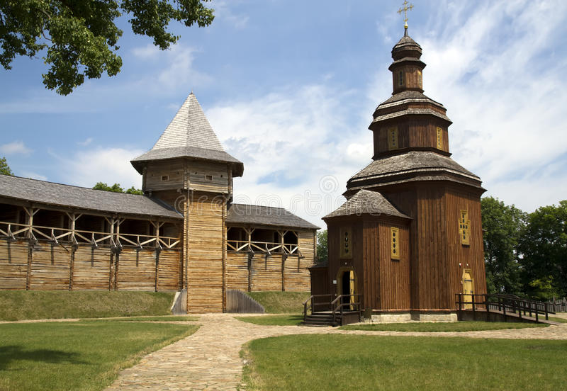 Wooden fortress royalty free stock photo