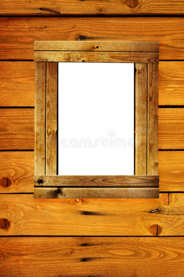 Wooden frame royalty free illustration