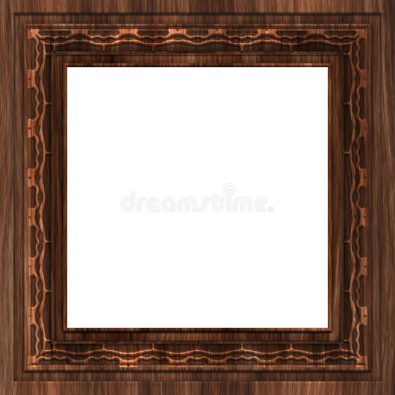 Download Wooden frame stock illustration. Image of isolated, hang - 16348449