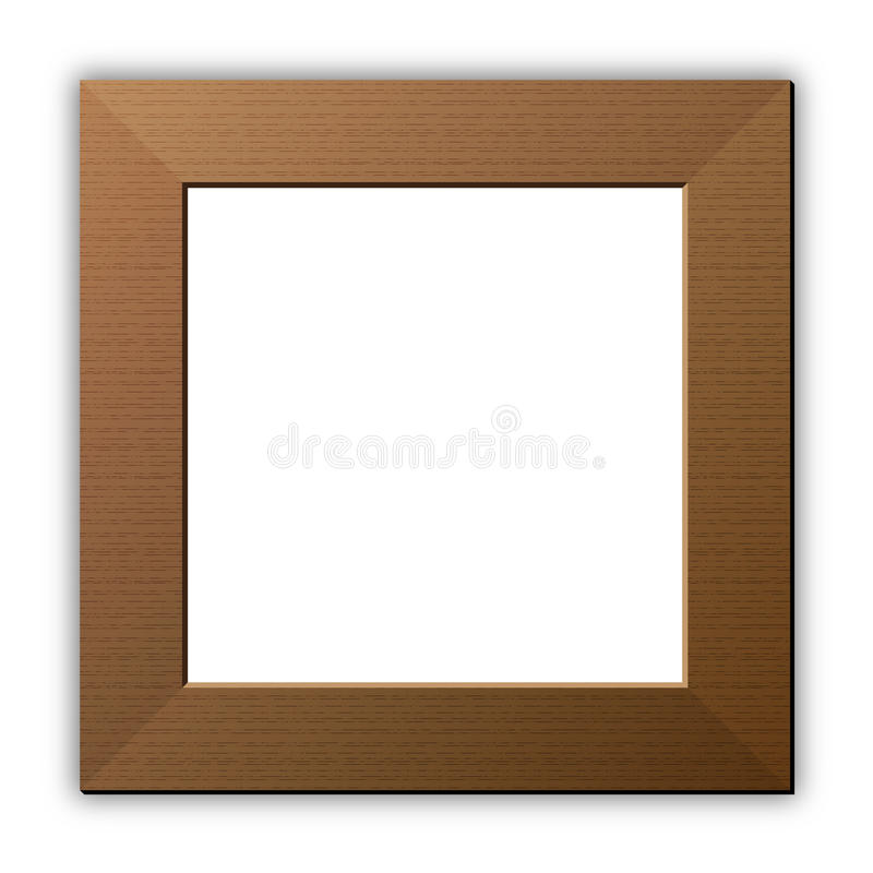 Wooden frame royalty free illustration