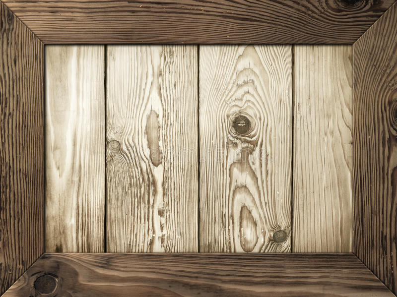 Wooden Frame. Old wooden frame with wood planks inside stock photos