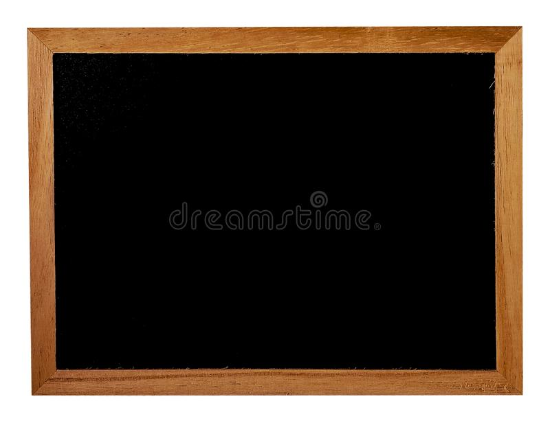 Download Wooden Frame With The Black Blackboard Background Stock Photo