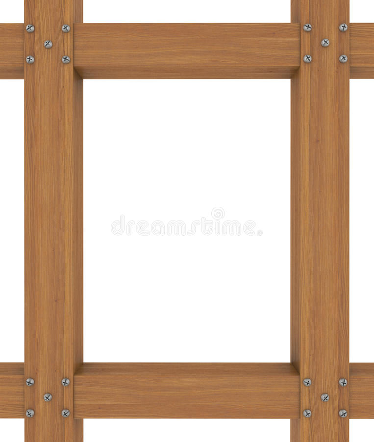 The Wooden Frame Of The Boards Stock Illustration - Illustration of ...