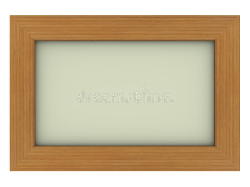 Wooden Frame With Gray Background Royalty Free Stock Images