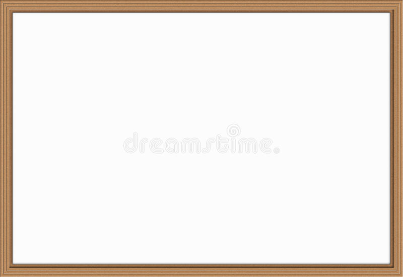 Wooden frame - illustration royalty free stock photos