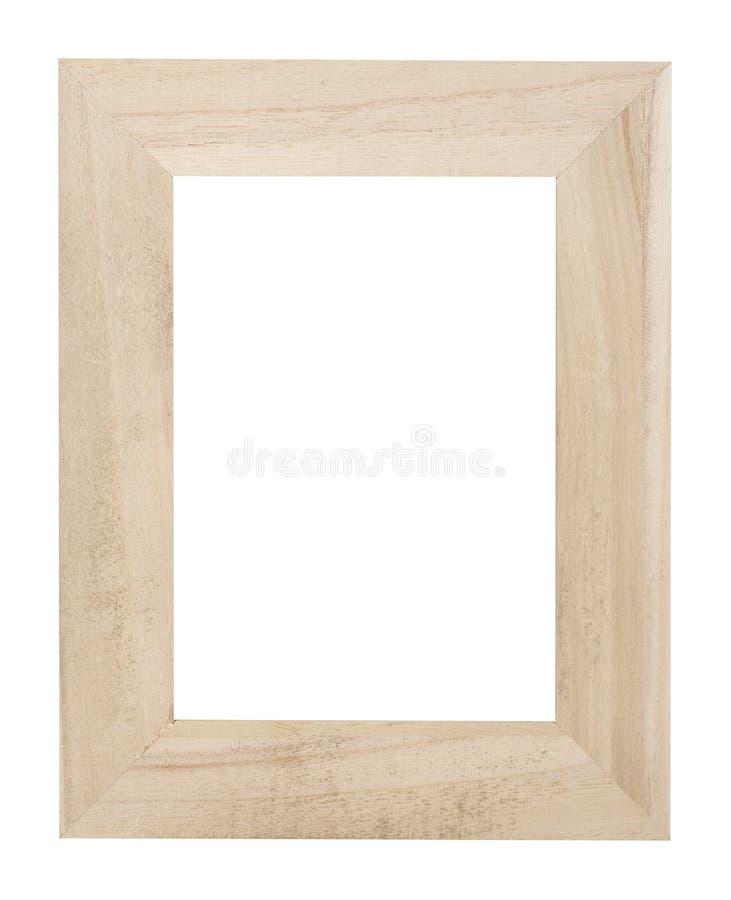 Wooden frame on white royalty free stock photos