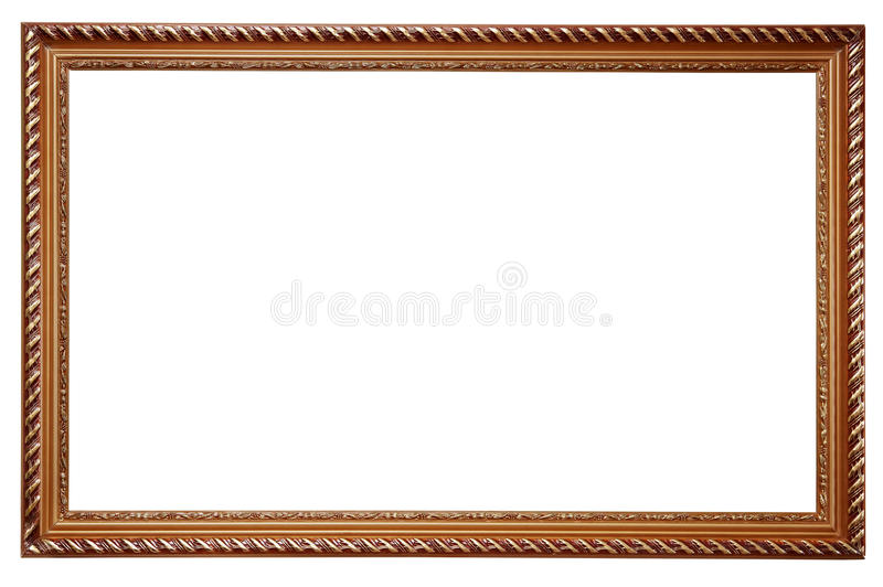 Wooden frame for paintings royalty free stock images