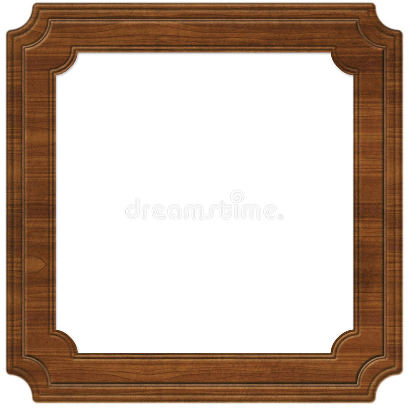 Download Wooden Frame (Path Included) Stock Illustration - Image: 9625834