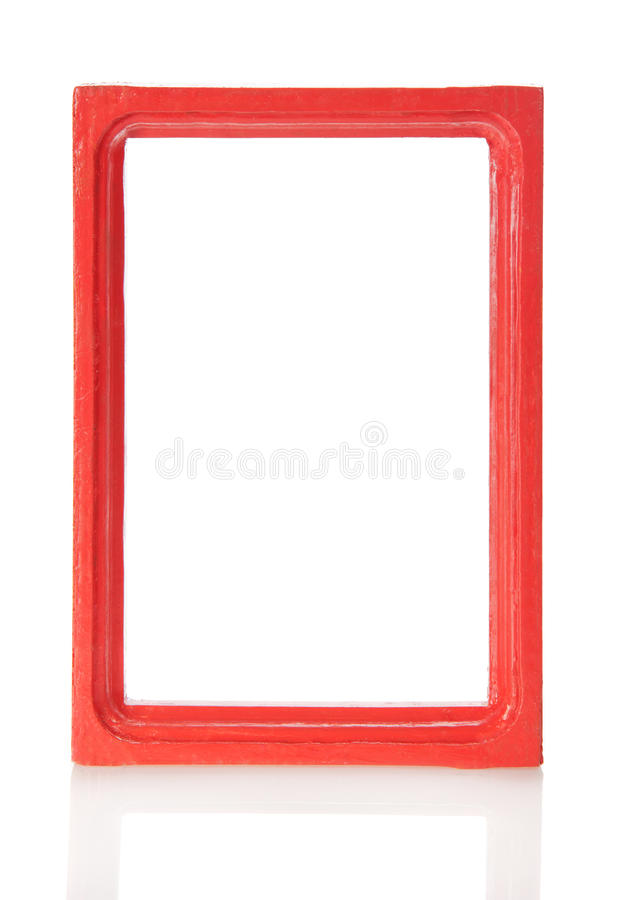 Wooden frame for pictures or the photos royalty free stock photography