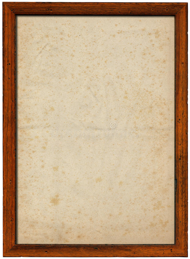 Wooden Frame with Spotted Paper stock illustration