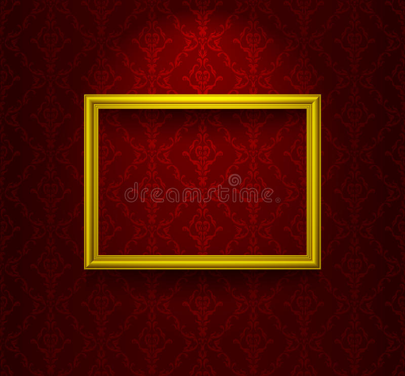 Download Wooden Frame On The Wall Stock Image - Image: 23003051