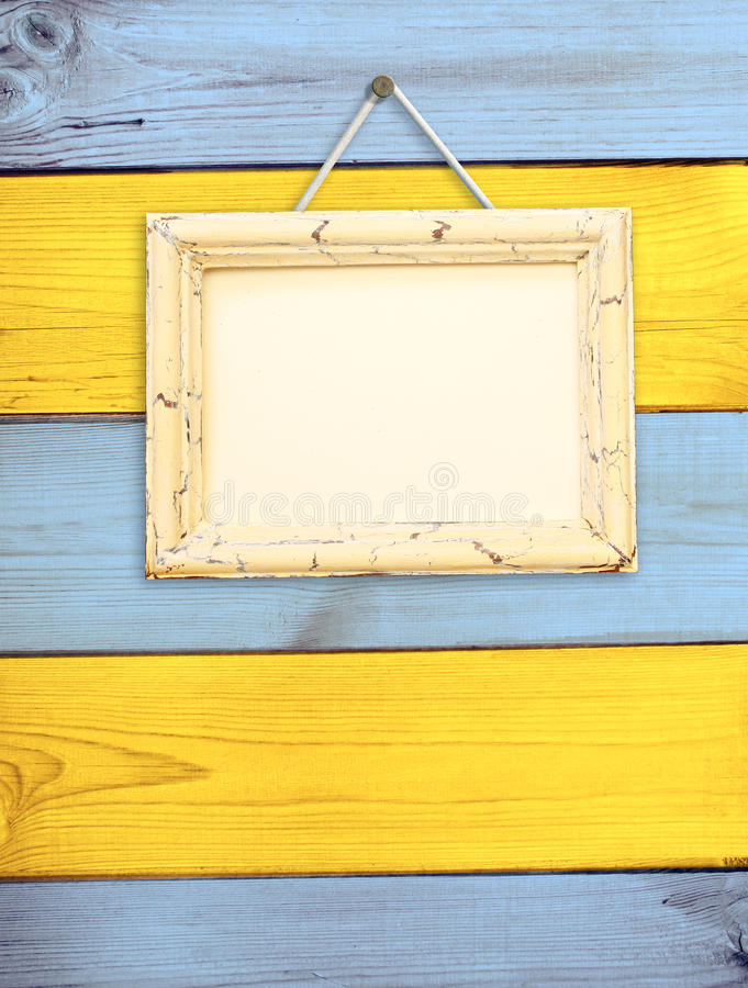 Download Wooden Frame On Wooden Wall Stock Photo - Image: 29155008