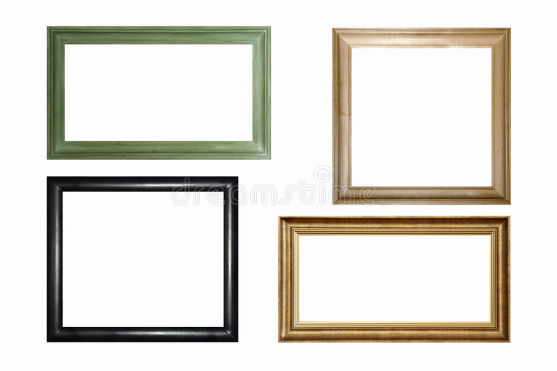 download wooden frames stock photo image of gallery painting frame 845536 - Wooden Frames