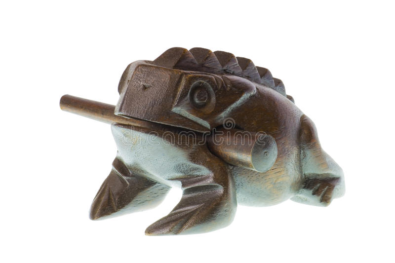Wooden Frog royalty free stock photography