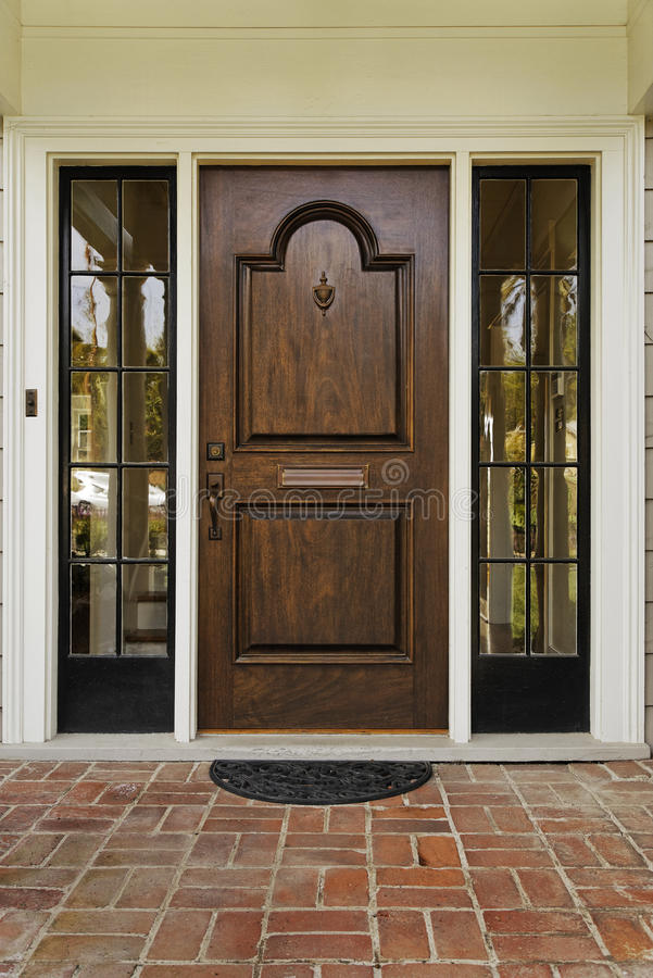 Wooden Front Door stock image
