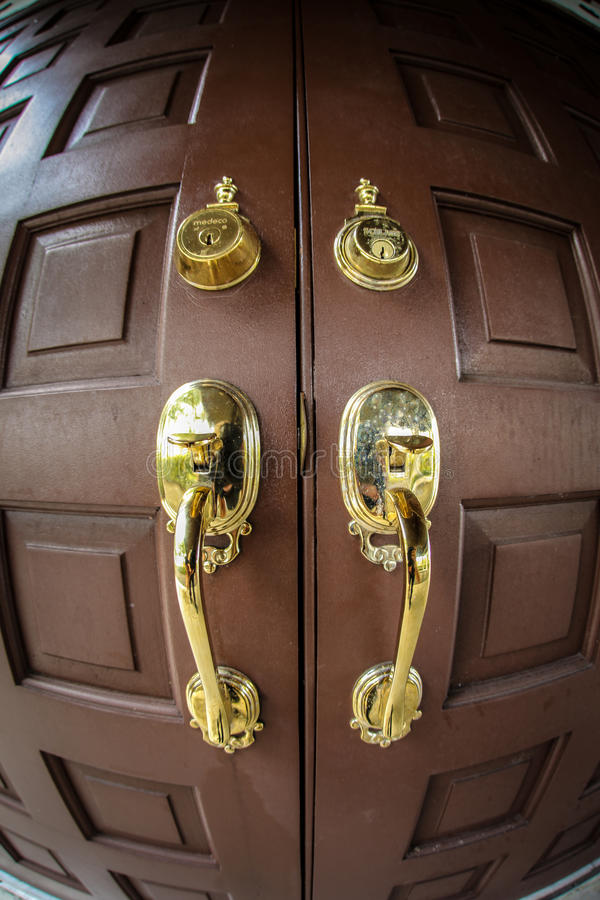 Download Wooden front door stock image. Image of front, paneled - 25156107