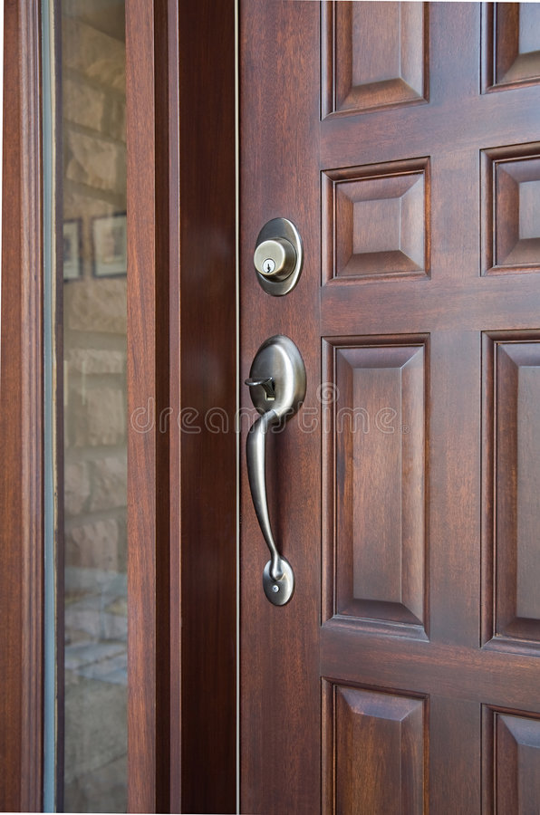 Download Wooden Front Door stock image. Image of closed, large - 8638721