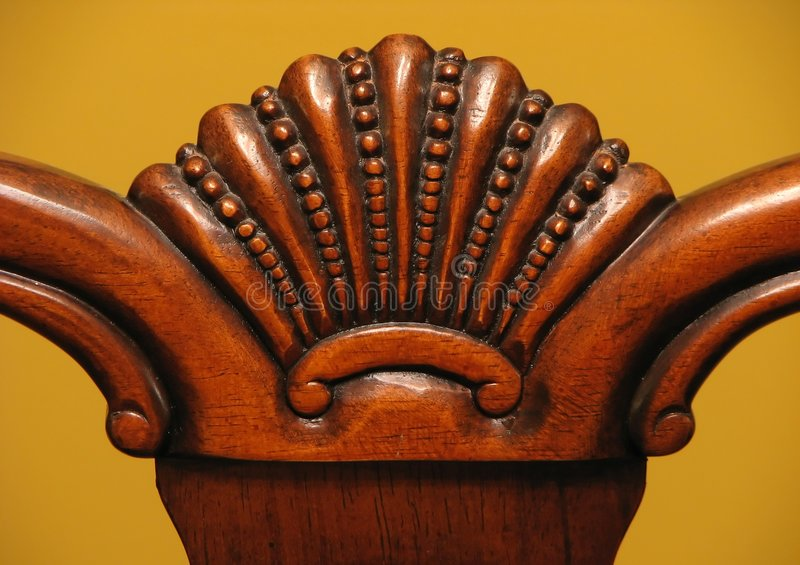 Wooden furniture detail stock image