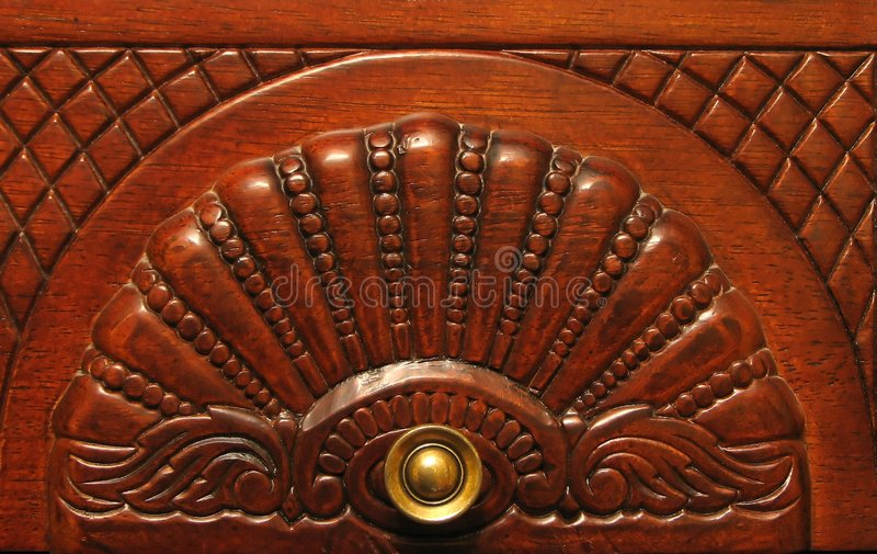 Wooden furniture detail stock photo