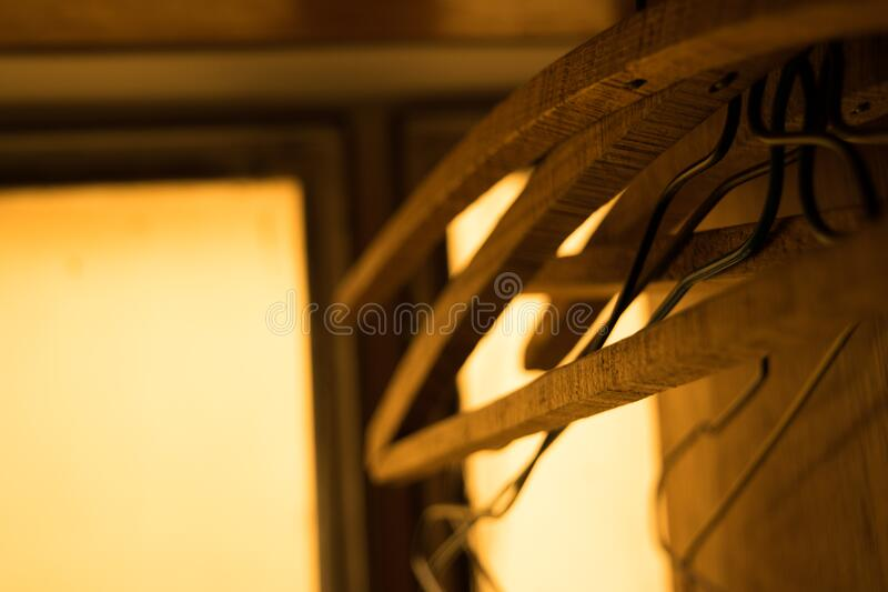 Wooden Furniture Hangers In Closet Free Public Domain Cc0 Image