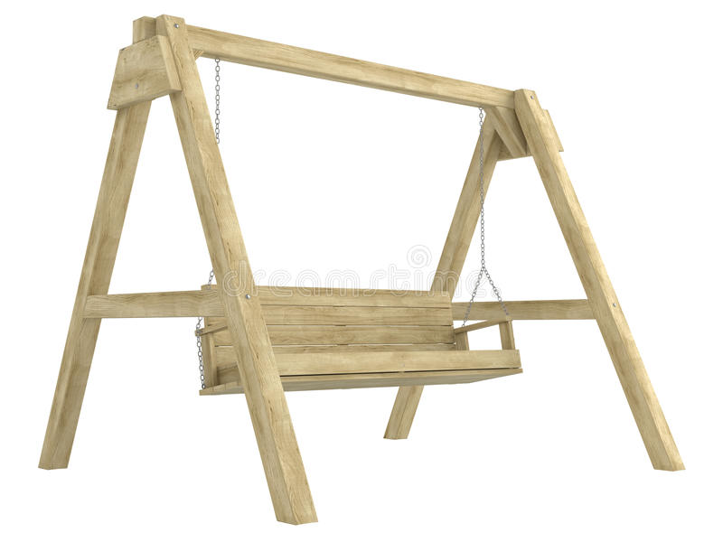 Download Wooden garden swing bench stock illustration. Image of country - 26680160
