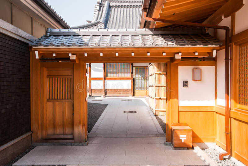 Wooden Gate, Japnese Style Royalty Free Stock Photography
