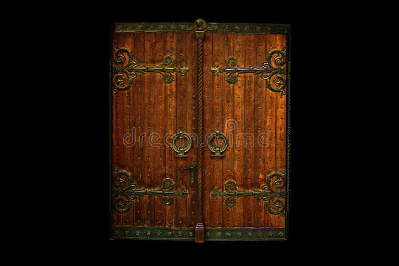 Download Wooden Gate stock photo. Image of entrance, metal, baroque - 35848236