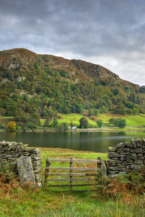 Wooden Gate By Rydal Water Royalty Free Stock Image