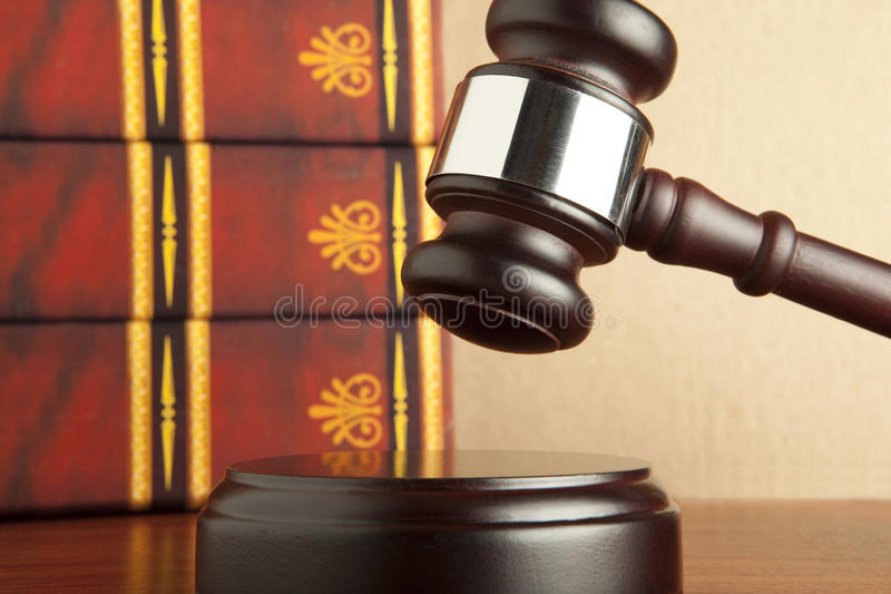 Wooden gavel royalty free stock image