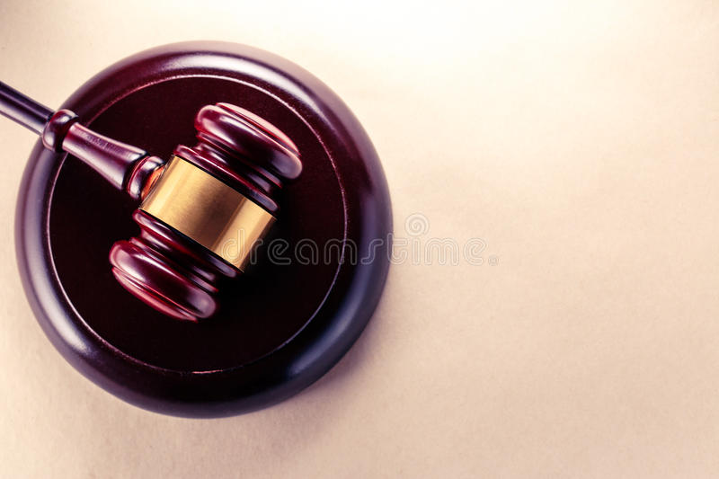 Wooden gavel and block royalty free stock photography