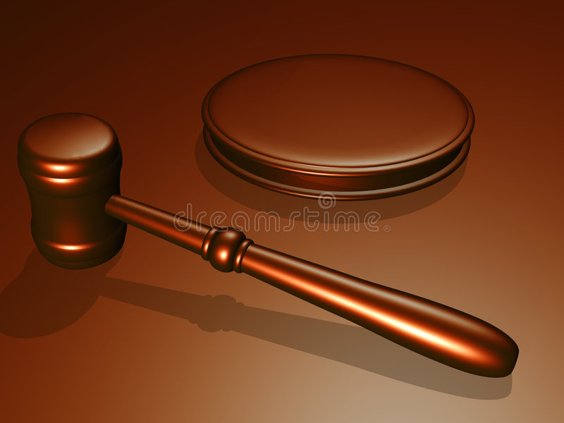 Wooden gavel from the court vector illustration