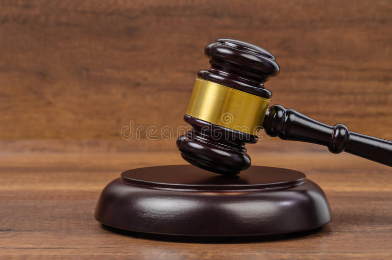 Wooden gavel. royalty free stock image