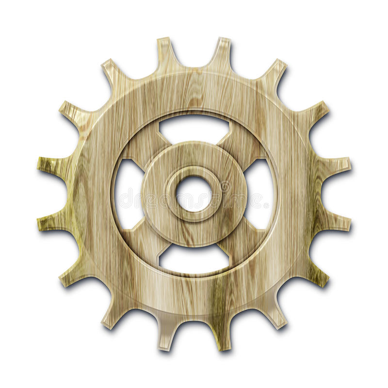 Download Wooden gear stock illustration. Image of brown, grey - 21800368
